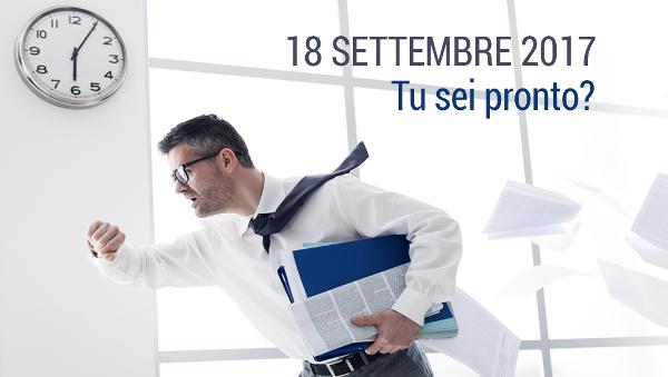 18 settembre – Nuova scadenza normativa per le aziende