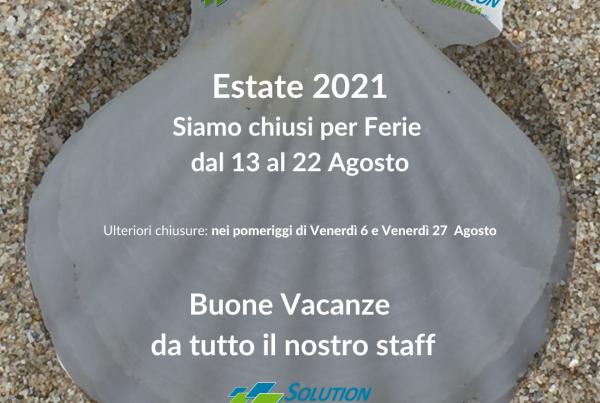 Chiusura estate 2021